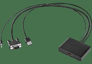 SITECOM CN 352 VGA + Audio zu HDMI Adapter, Schwarz