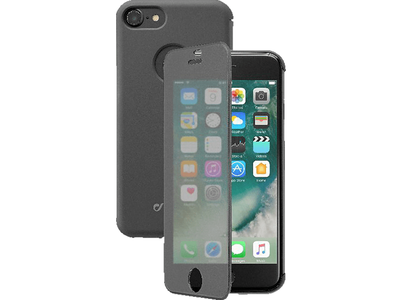 CELLULAR LINE Book Touch , Bookcover, Apple, iPhone 7, iPhone 8, Kunststoff, Schwarz/Transparent