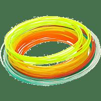 XYZ PRINTING Filament für da Vinci 3D-Stift, weiß/gelb/grün/orange/rot (RFPLDXTW00H)