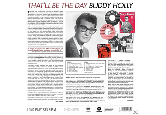 Buddy Holly - That'll Be The Day+2 Bonus Track (Ltd.180g Viny  - (Vinyl)