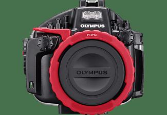 OLYMPUS PT-EP14, Unterwassergehäuse, Schwarz/Rot