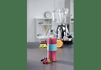 XAVAX Trinkflasche Glas in Türkis