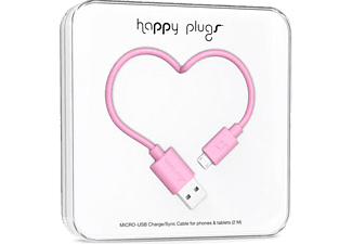 HAPPY PLUGS Micro USB To USB Şarj/Senkronizasyon Kablosu 2 m Pink