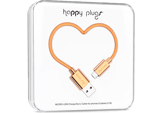 HAPPY PLUGS Micro USB To USB Şarj/Senkronizasyon Kablosu 2 m Rose Gold