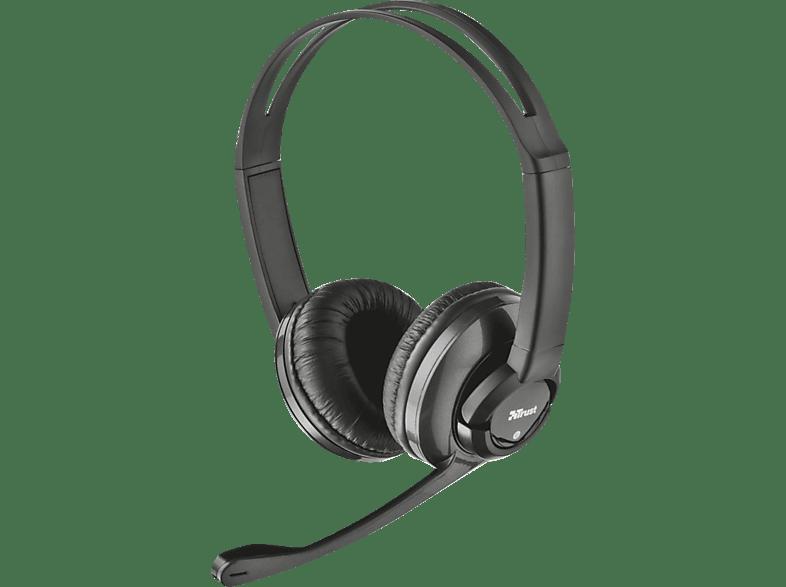 TRUST 21659 Zaia Headset  Headset Schwarz