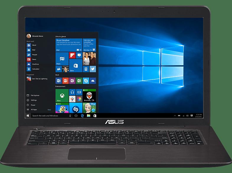 ASUS R753UV-T4241T, Notebook mit 17.3 Zoll Display, Core™ i5 Prozessor, 12 GB RAM, 1000 GB HDD, GeForce 920MX, Dark Brown