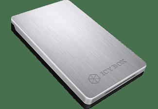 RAIDSONIC Case 2.5 Zoll SATA HDD/SSD USB 3.0 Festplattengehäuse, Silber/Schwarz