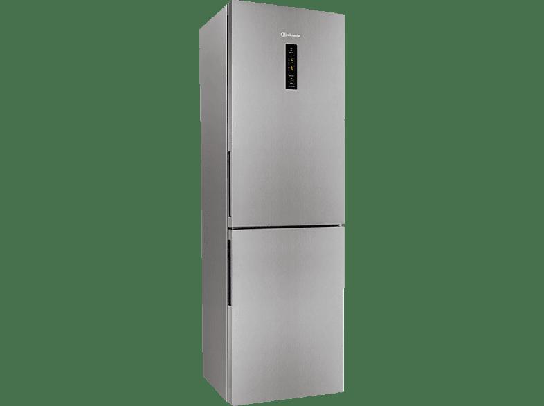 BAUKNECHT KGN 1843 A3+ IN  Kühlgefrierkombination (A+++, 181 kWh/Jahr, 1890 mm hoch, Edelstahl)