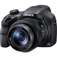SONY Cyber-shot DSC-HX350 Zeiss Bridgekamera Schwarz, 20.4 Megapixel, 50x opt. Zoom, TFT-LCD, Xtra Fine