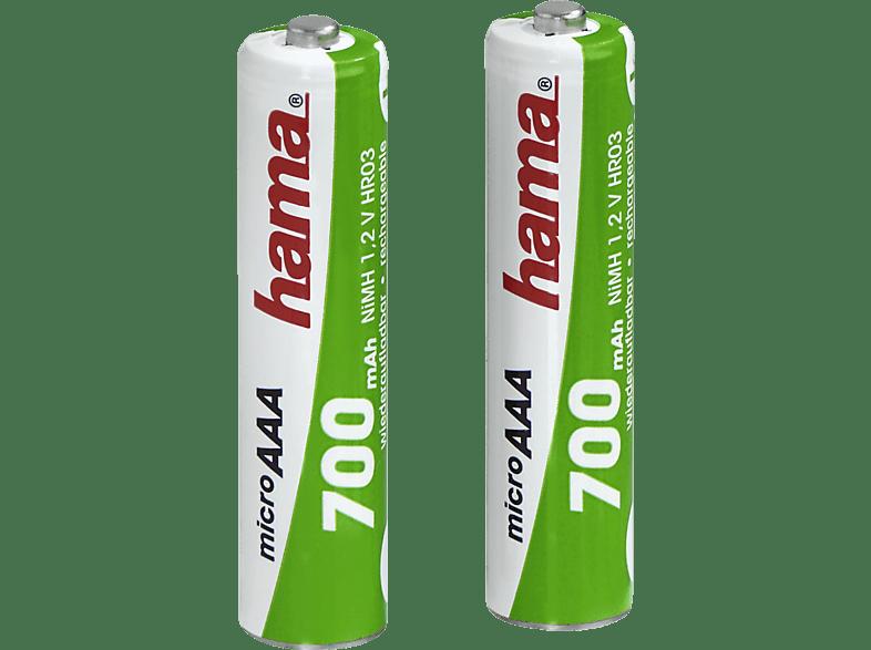 HAMA 2er Pack AAA Micro 700 mAh