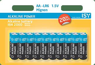 ISY IBA -2000 AA (Mignon) Batterie, Alkaline, 1.5 Volt 20 Stück