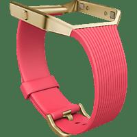 FITBIT FB159ABGPKL, Ersatz-/Wechselarmband, fitbit, Blaze, Pink/Gold