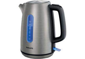 PHILIPS Wasserkocher Viva Collection HD9357/10 blau beleuchtet, silber
