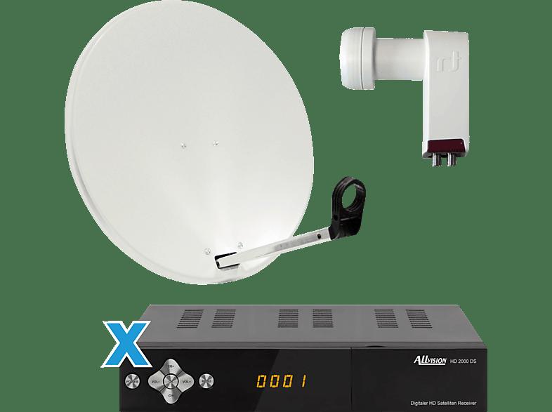 ALLVISION SAH 2000/60 HD S2 Premium HDTV Sat-Receiver (60 cm, Twin-LNB)