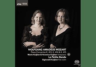 La Petite Bande - Mozart Piano Concertos KV 413,KV 414 & KV 415  - (CD)