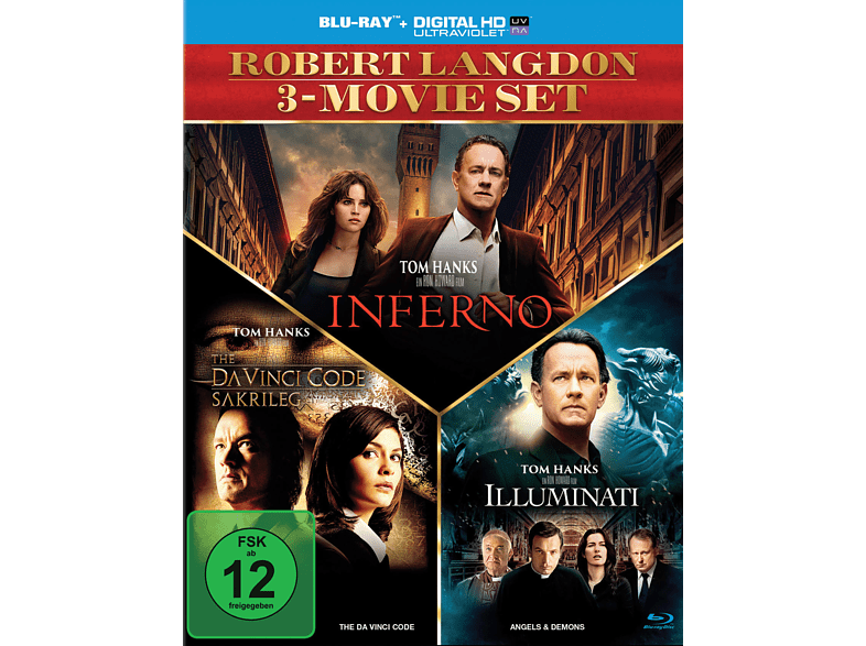 The Da Vinci Code - Sakrileg / Illuminati / Inferno [Blu-ray]