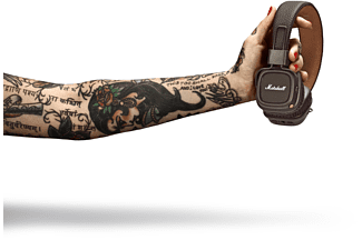 MARSHALL Major II Bluetooth , On-ear Kopfhörer Bluetooth Braun