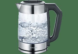 SEVERIN WK 3477 Wasserkocher, Glas/Edelstahl-gebürstet/Schwarz