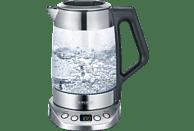 SEVERIN WK 3479 Wasserkocher, Edelstahl gebürstet/Schwarz/Glas