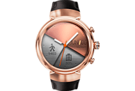 ASUS  ZenWatch 3 (WI503Q) Smartwatch Edelstahl, Leder, 118 mm, Roségold mit Lederarmband Braun