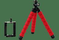 ROLLEI 22619 Dreibeinstativ Stativ, Rot, Höhe offen bis 160 mm