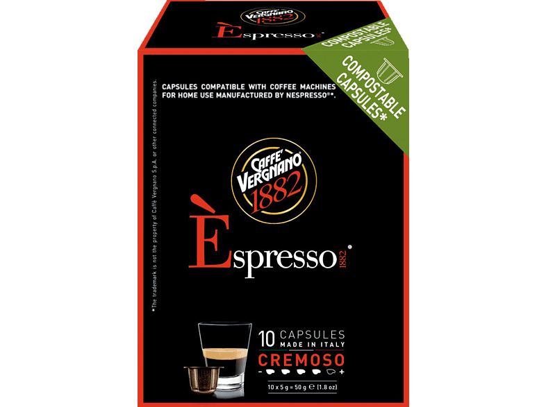 CAFFE VERGNANO 5486 Èspresso 1882 Cremoso Kaffeekapseln (Nespresso)
