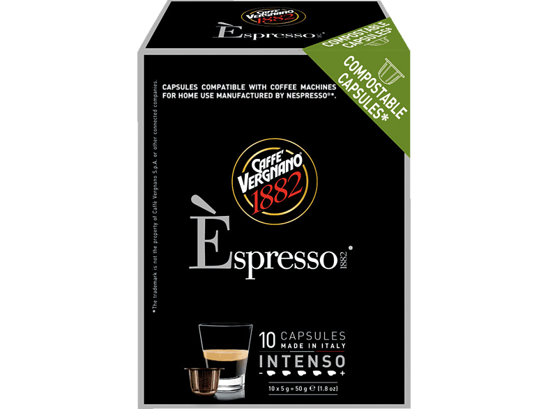 CAFFE VERGNANO 5506 Èspresso 1882 Intenso Kaffeekapseln (Nespresso)