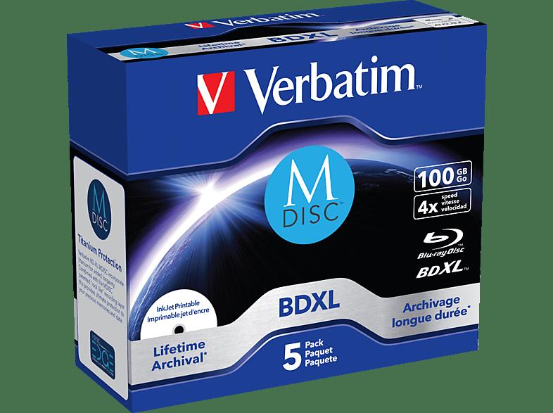 VERBATIM 43834 MDISC Blu-ray BD-R 100GB Rohling
