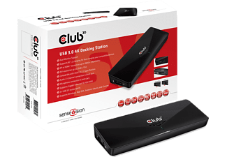 CLUB-3D SenseVision USB 3.0 4K Docking Station (CSV-3103D)