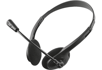 TRUST Primo, On-ear Headset Schwarz