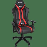 SANDBERG Commander, Gaming Stuhl, Schwarz/Rot