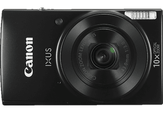CANON IXUS 190 Kit Digitalkamera Schwarz, 20.0 Megapixel, 10fach opt. Zoom, LCD (TFT), WLAN
