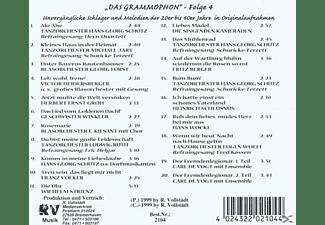 VARIOUS - Das Grammophon-Folge 4  - (CD)