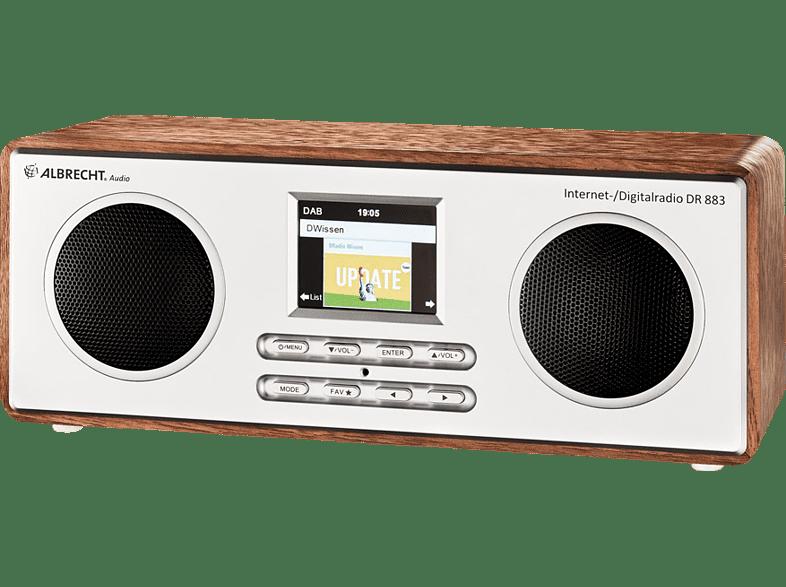 ALBRECHT DR 883 Radio (Braun/Silber)