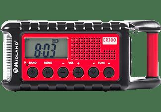 MIDLAND C 1173 ER 300 Radio, FM, Schwarz/Rot