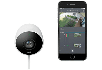 Cámara Seguridad - Google Nest Cam Outdoor, Cámara exterior, Resistente al agua, 1080p, 130º