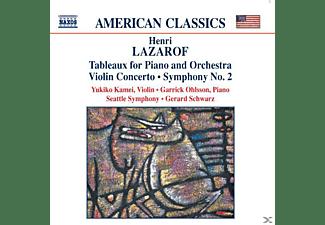 Yukiko Kamei, Garrick Ohlsson, Gerard Schwarz - Tableaux/Violinkonzert/Sinf.2  - (CD)