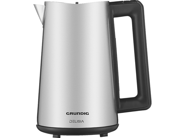 Wasserkocher GRUNDIG WK 8680 Wasserkocher, EdelstahlSchwarz