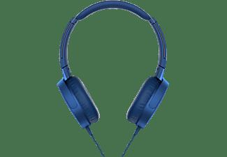 SONY MDR-XB550AP, On-ear Kopfhörer Blau