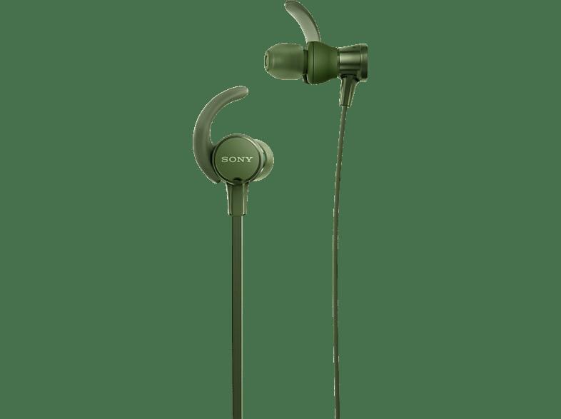 SONY MDR-XB510AS, In-ear Kopfhörer  Grün
