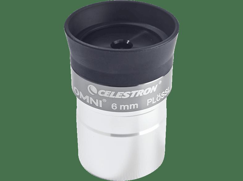 CELESTRON 810232 Omni 1.25 Zoll, 6 mm Okular, Astronomie, Silber