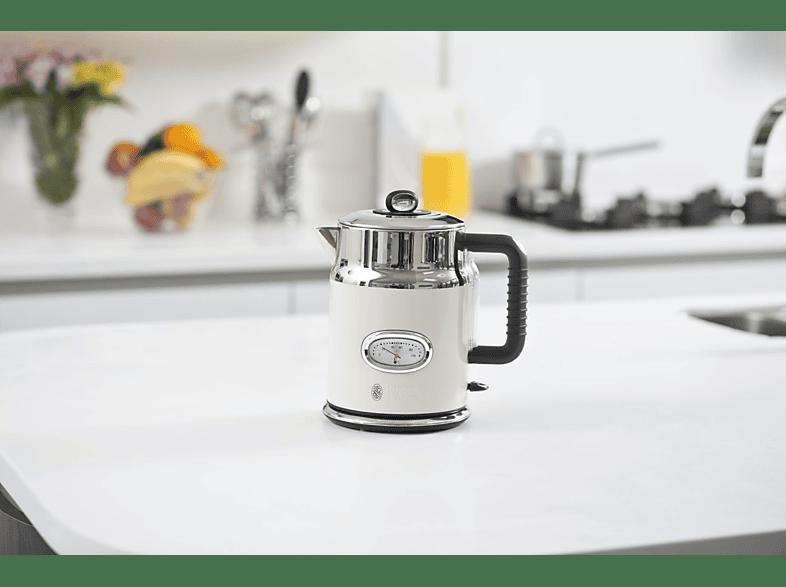 Russell Hobbs Retro Vintage Cream Wasserkocher Creme-Edelstahl Kalkfilter