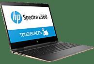 HP Spectre x360 (13-ac033ng), Convertible mit 13.3 Zoll Display, Core™ i7 Prozessor, 16 GB RAM, 512 GB SSD, HD-Grafik 620, Grau/Kupfer