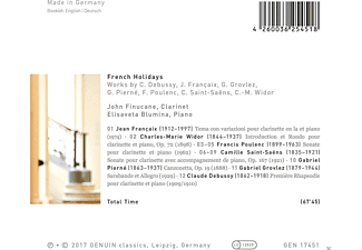 John Finucane, Elisaveta Blumina - French Holidays-Werke für Klarinette & Piano  - (CD)