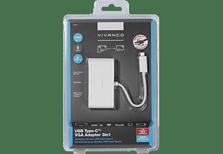 VIVANCO 34294 USB Adapter, Weiß