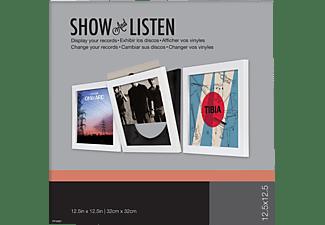 SHOW & LISTEN Flip Frame Schallplattenrahmen Weiß