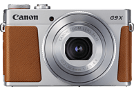 CANON PowerShot G9 X Mark II Digitalkamera Silber/Braun, 20.1 Megapixel, 3fach opt. Zoom, Touchscreen-LCD (TFT), WLAN