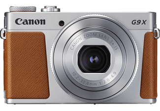 CANON PowerShot G9 X Mark II Digitalkamera Silber/Braun, 3fach opt. Zoom, Touchscreen-LCD (TFT), WLAN