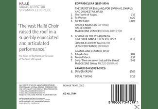 Halle/Sir Mark Elder/Nicholls/ - Bax/For the Fallen  - (CD)
