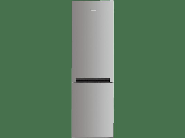 BAUKNECHT KGE 336 A+++ IN  Kühlgefrierkombination (A+++, 161 kWh/Jahr, 1890 mm hoch, Edelstahl)
